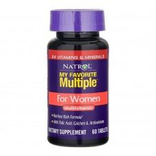 Витамины Natrol MY FAVORITE MULTIPLE FOR WOMEN 60 таб