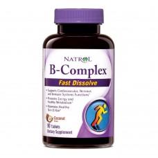 Витамины Natrol B COMPLEX FAST DISSOLVE 90 таб