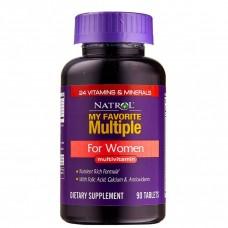 Витамины Natrol MY FAVORITE MULTIPLE FOR WOMEN 90 таблеток