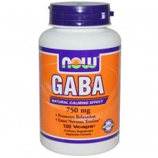 Now Foods GABA 750 mg 100 капс