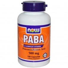 Спортивная добавка NOW Foods PABA 500 mg 100 caps