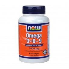 Спортивная добавка Now OMEGA 3 6 9 1000 mg 100 softgels