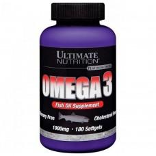 Спортивная добавка Ultimate Nutrition OMEGA 3 1000 mg 180 softgels
