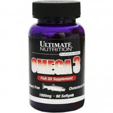 Спортивная добавка Ultimate Nutrition OMEGA 3 1000 mg 90 softgels