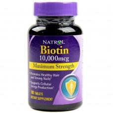 Спортивная добавка Natrol BIOTIN 10000 мкг 100 таб